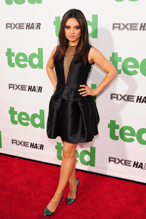 Mila Kunis glams up for the Ted premiere. (JB Lacroix/WireImage)