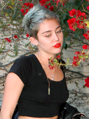 Miley spotted on Friday. (Anthony/PacificCoastNews.com