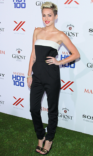 Miley Cyrus at the Maxim Hot 100 party (JB Lacroix/WireImage)