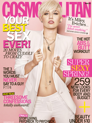 Miley does Cosmo. (Matthias Vriens-McGrath)