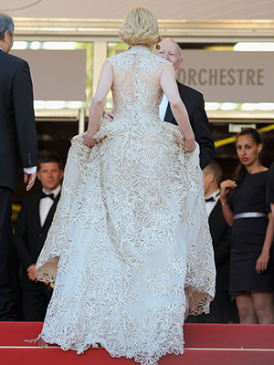 The back of Nicole Kidman's gown (Getty Images)