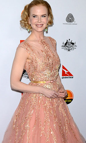 Nicole Kidman hits the red carpet. (Splash News)
