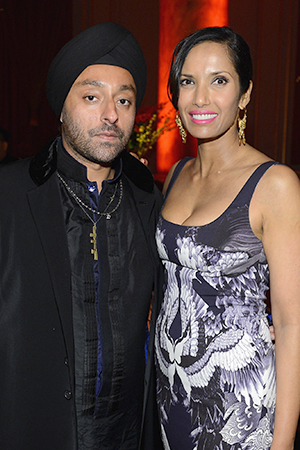 Padma Lakshmi and Vikram Chatwal (Dimitrios Kambouris/Getty Images)