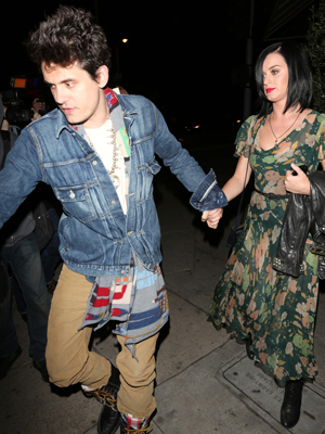 John Mayer and Katy Perry out to dinner in West Hollywood (PacificCoastNews.com)