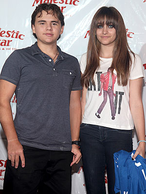 Prince Jackson with his younger sister, Paris. (Tasos Katopodis/Getty Images)