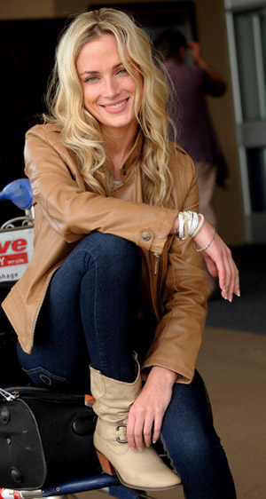 Reeva Steenkamp in Johannesburb (Mike Holmes/Getty Images)