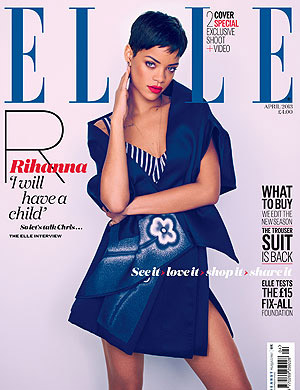 Rihanna on Elle U.K.'s April 2013 cover (Mariano Vivanco/Elle U.K.)