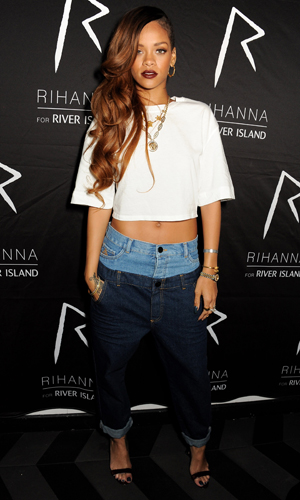 Rihanna in the polarizing jeans. (Dave M. Benett/WireImage)