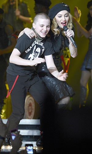 Madonna and Rocco on the MDNA Tour (Kevin Mazur/WireImage)