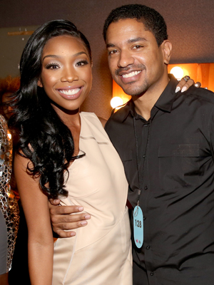 Brandy and producer Ryan Press attend