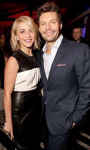 Ryan Seacrest and Julianne Hough (Jeff Vespa/Getty Images)
