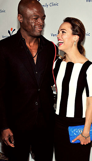 Seal and Erin Cahill (WireImage)
