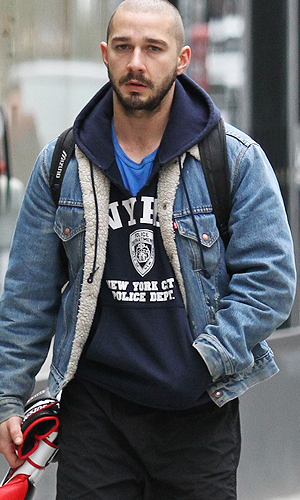 Shia LaBeouf in NYC (Splash News)