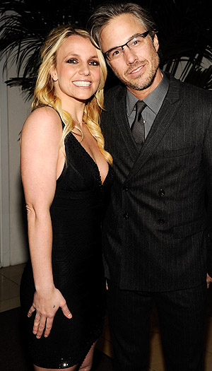 Spears and former fiance Jason Trawick. (Kevin Mazur/WireImage)