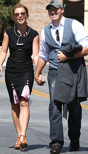 Britney Spears and David Lucado on March 22, 2013 (AKM-GSI)