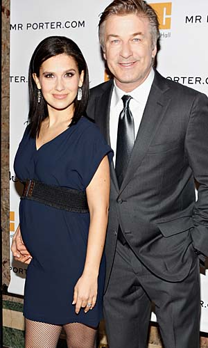 Alec and Hilaria Baldwin show off her baby bump (Cindy Ord/Getty Images)