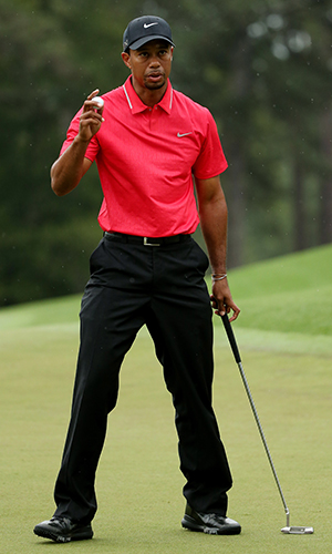 Tiger Woods during his final round at the Masters (Getty Images)