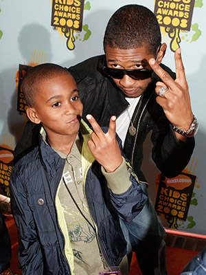 Kile and Usher in 2008. (Kevin Winter/Getty Images)