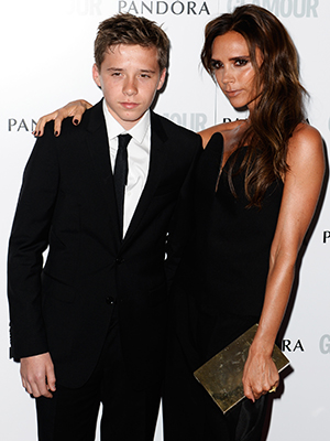Brooklyn and Victoria Beckham at Glamour event (Getty Images)