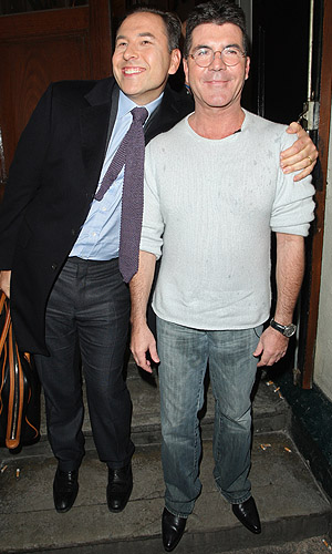 David Walliams and Simon Cowell (Splash News)