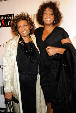 Cissy Houston with Whitney in 2010 (Getty Images)