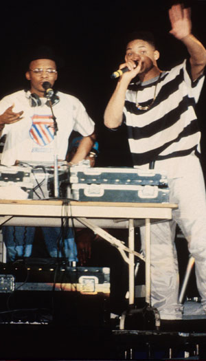 Smith (right) with DJ Jazzy Jeff back in the day. (Getty Images)