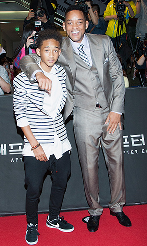 Jaden Smith with dad Will Smith (Han Myung-Gu/WireImage)