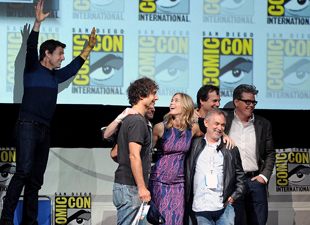 Tom Cruise and the 'Edge of Tomorrow' cast at Comic-Con, 2013 (Getty Images)
