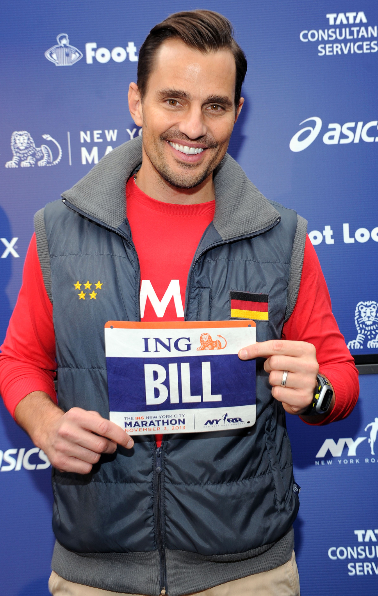 Bill Rancic is running the New York Marathon for a good cause. (Craig Barritt/Getty Images)