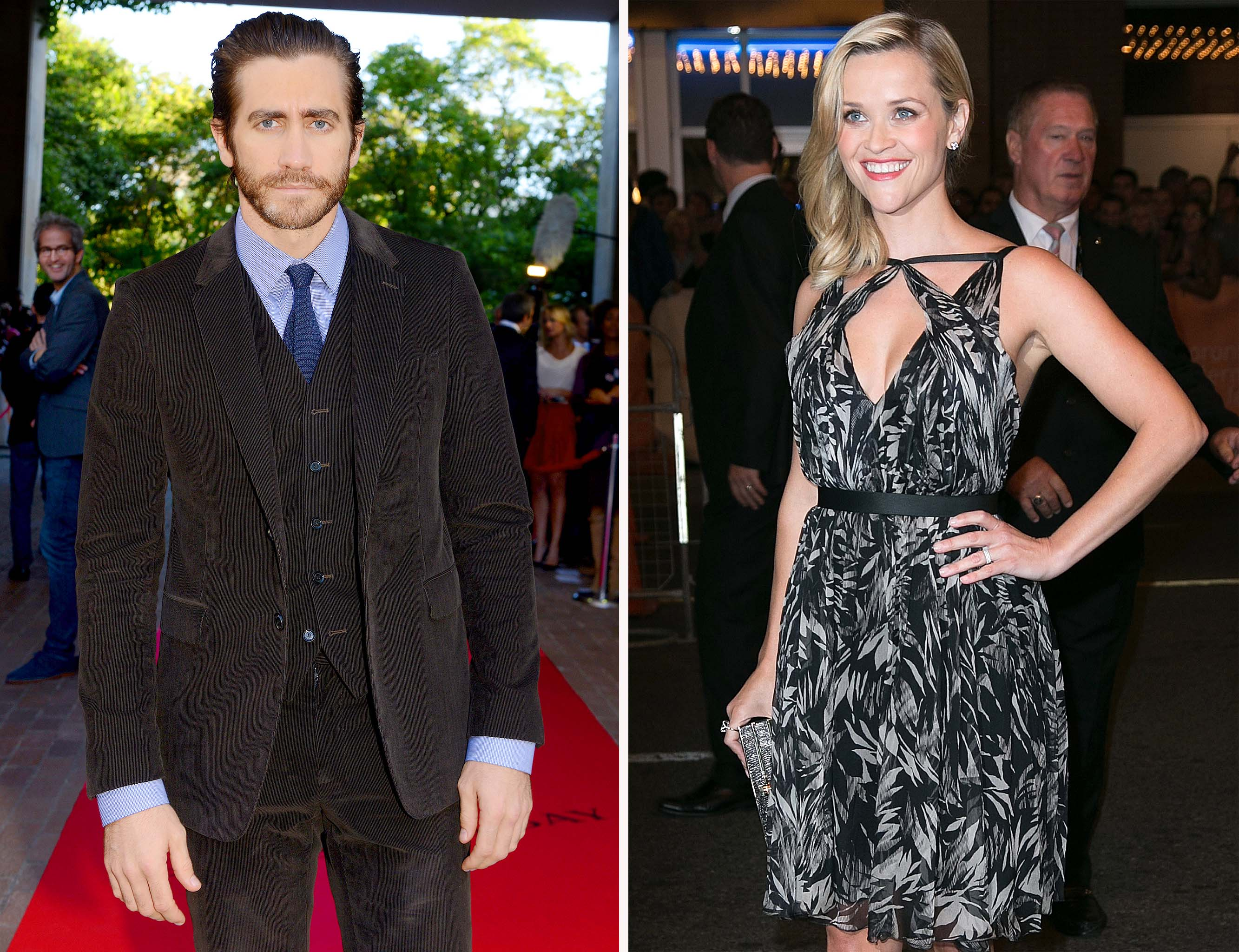 Reese Witherspoon, Jake Gyllenhaal at their respective TIFF premiers (WireImage)