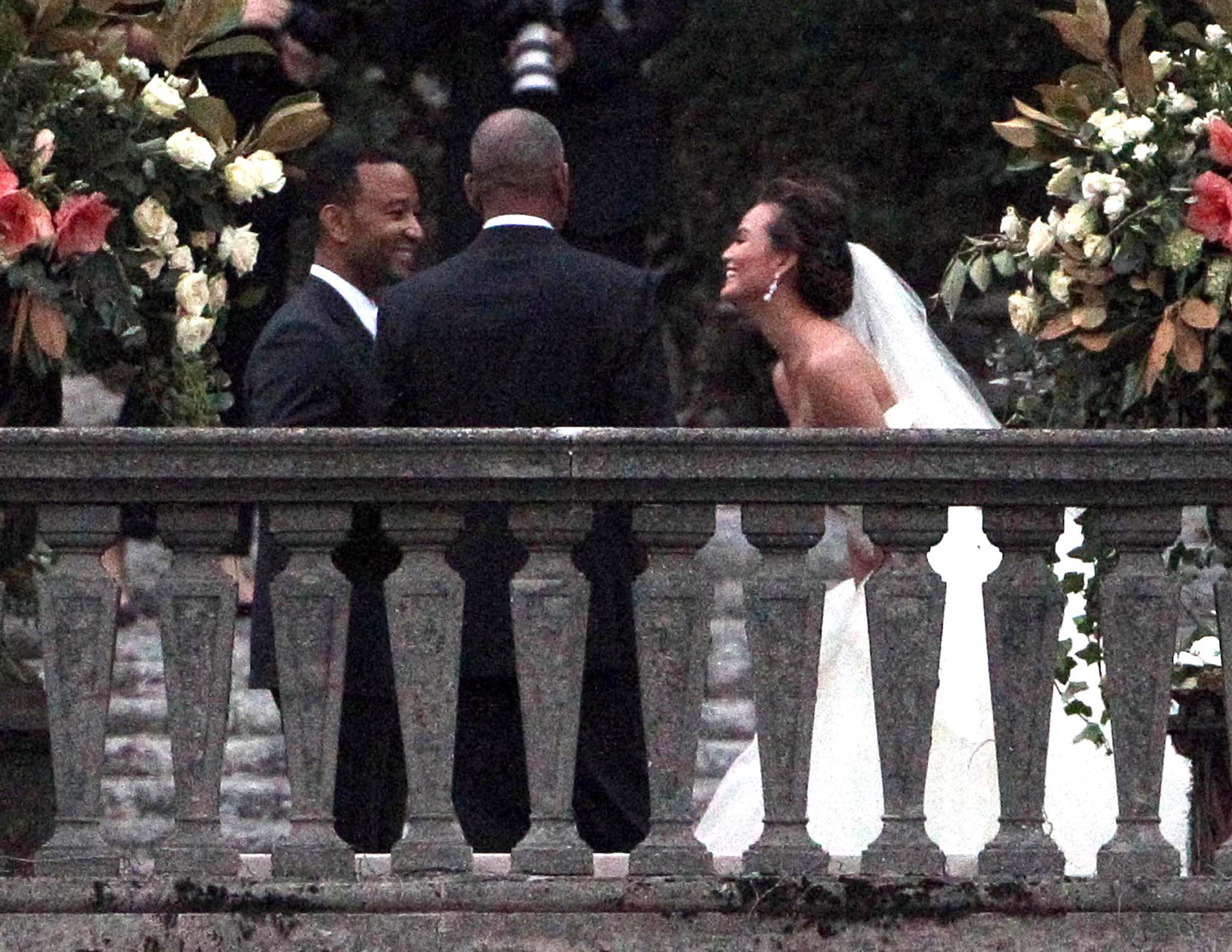 John Legend and Chrissy Teigen say 'I do.' (Ramey)