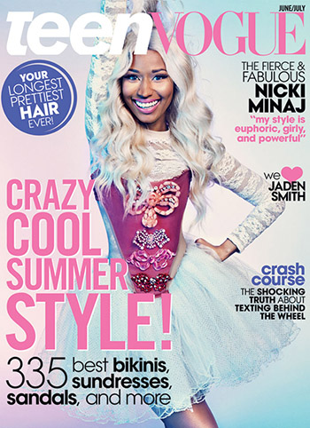 Nicki Minaj (Sebastian Kim/Teen Vogue)