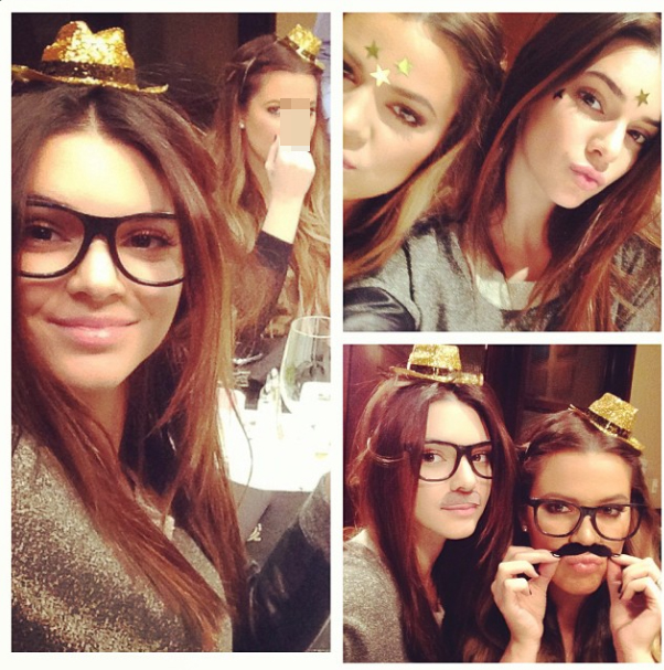 Khloe and Kendall get silly (Instagram)