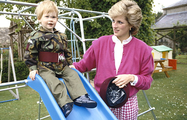 Prince Harry and Princess Diana (Getty Images)