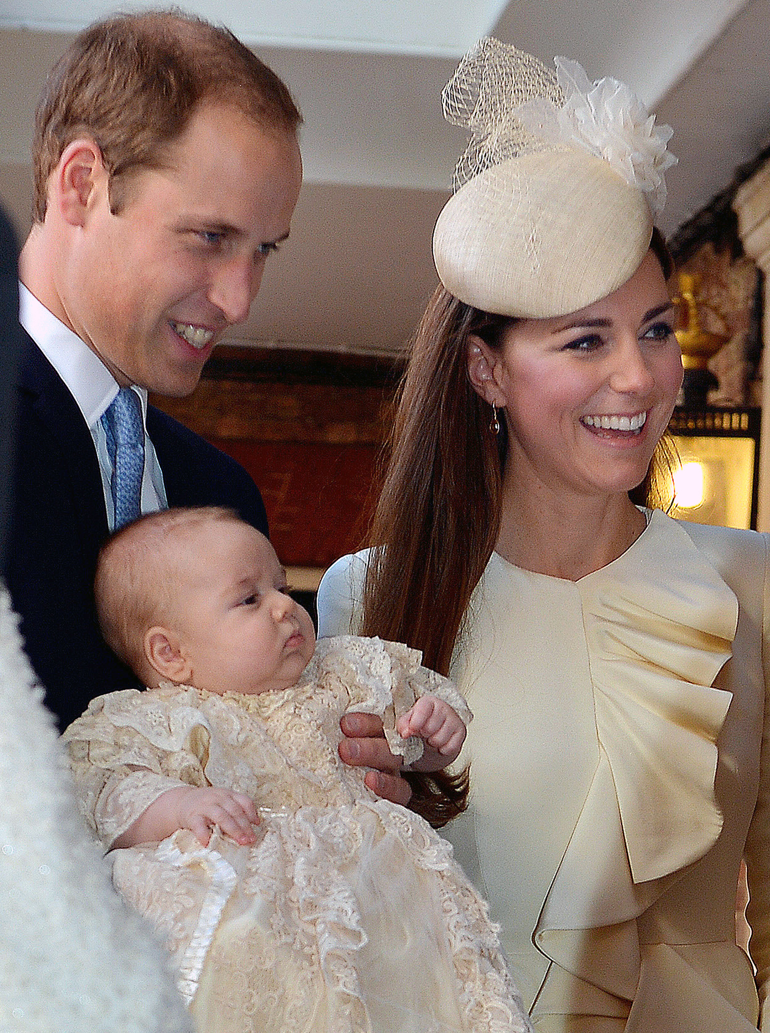 The happy family on October 23. (Getty Images)