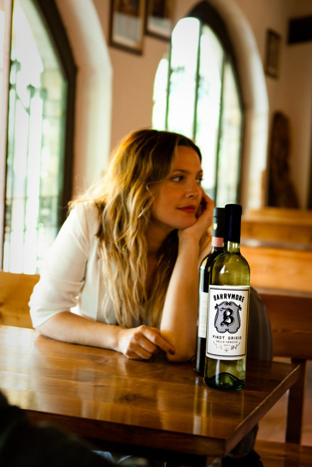 Drew Barrymore is one of many celebs in the wine-making business. (Credit: BarrymoreWines.com)