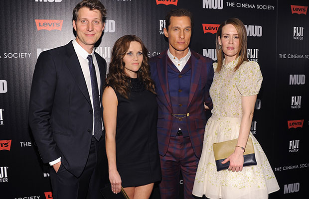 Director Jeff Nichols, Reese Witherspoon, Matthew McConaughey and Sarah Paulson at Sunday's 'Mud' premiere (Jamie McCarthy/WireImage)