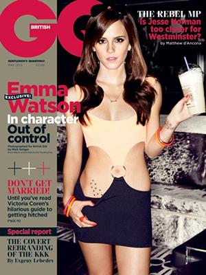 Emma Watson underwent a bad girl makeover for the mag. (Mark Seliger/GQ)