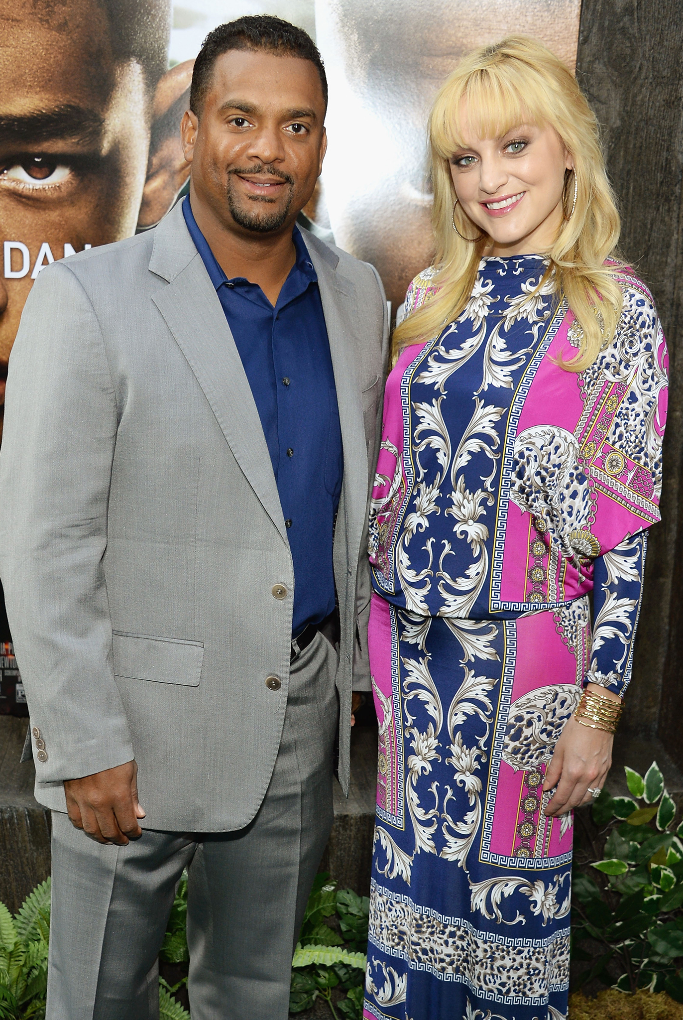 Alfonso Ribeiro and wife Angela Unkrich (Getty Images)