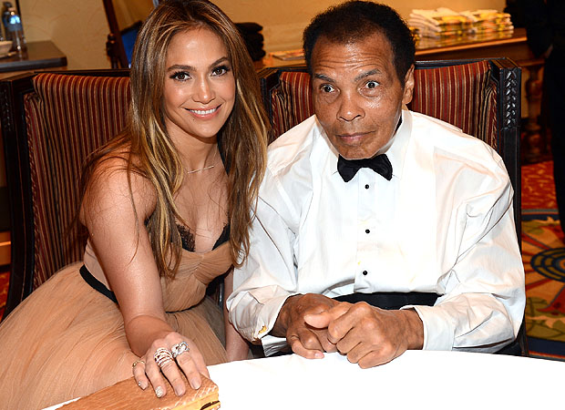 Jennifer Lopez and Muhammad Ali (Getty Images)