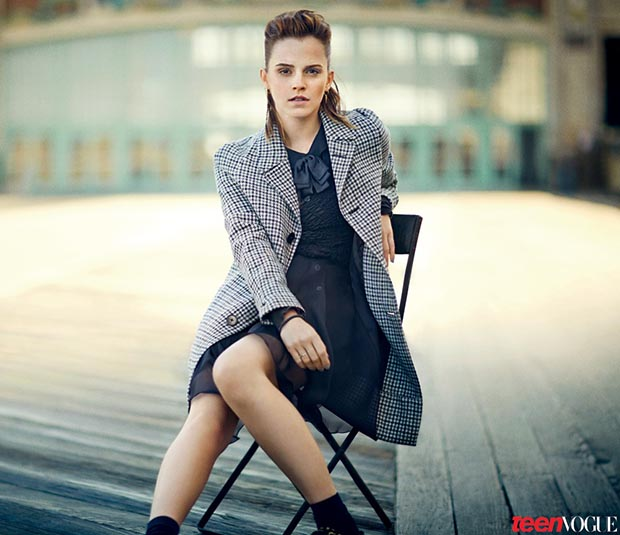 Emma Watson strikes a pose in August's Teen Vogue. (Boo George/Teen Vogue)