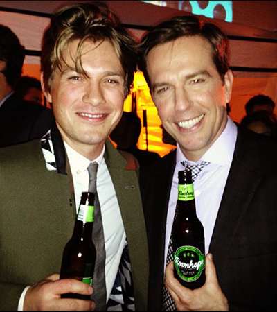 Taylor Hanson and Ed Helms (Instagram)