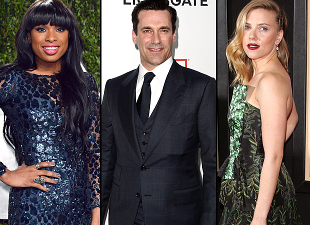 Jennifer Hudson, Jon Hamm, and Scarlett Johansson (WireImage)