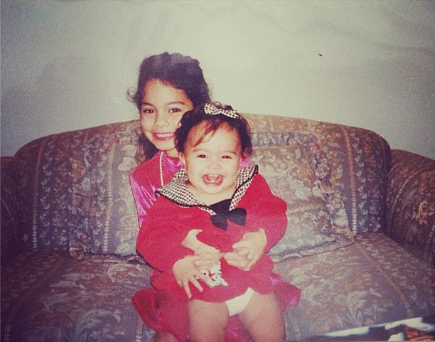 Vintage Vanessa and Stella Hudgens smile for the camera. (Tumblr)