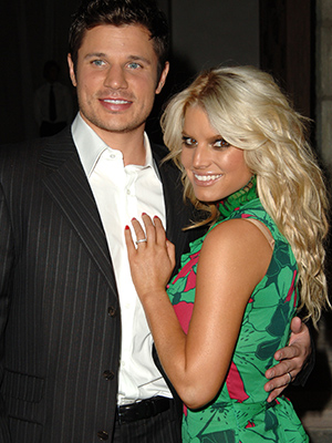 Nick Lachey and Jessica Simpson in 2005 (Getty Images)