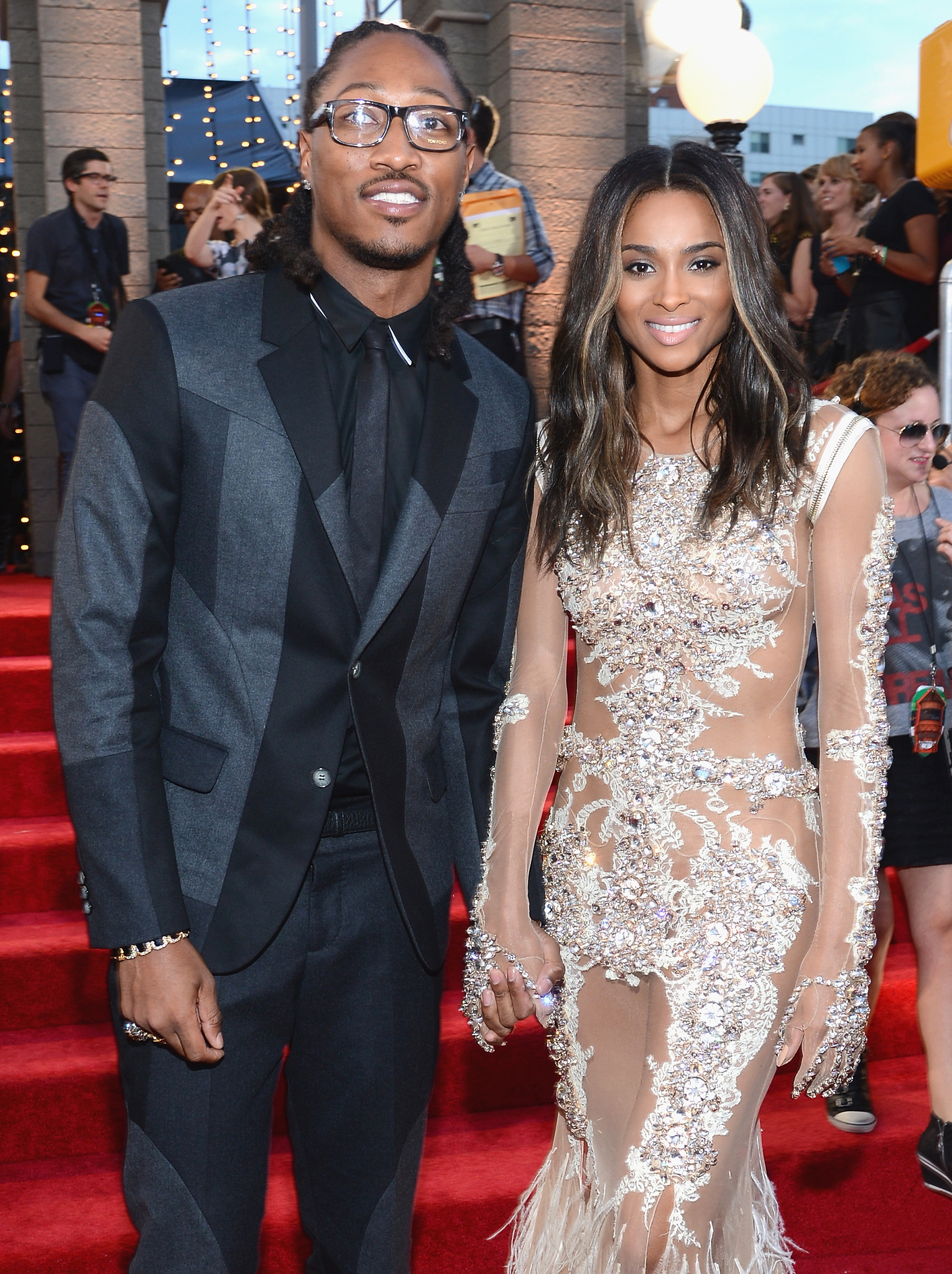 Future and Ciara at the MTV VMAs. (Getty Images)
