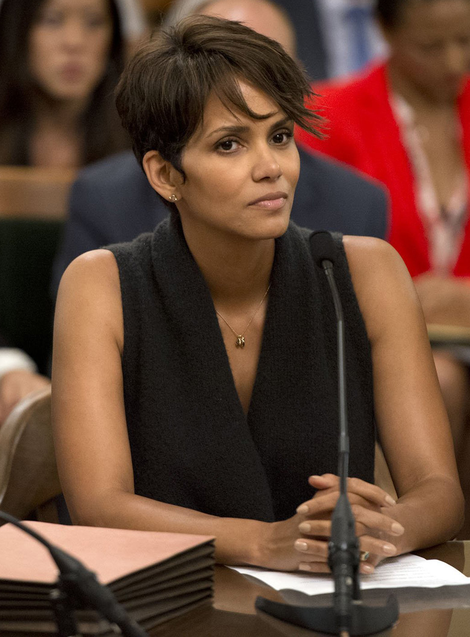 Halle Berry testifying in support of the bill in June. (Getty Images)