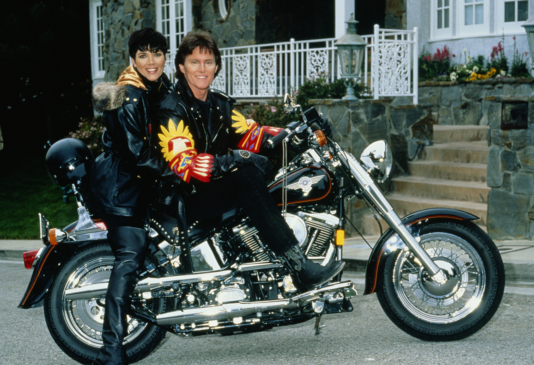 The Jenners are revved up in 1991. (Maureen Donaldson/Getty Images )