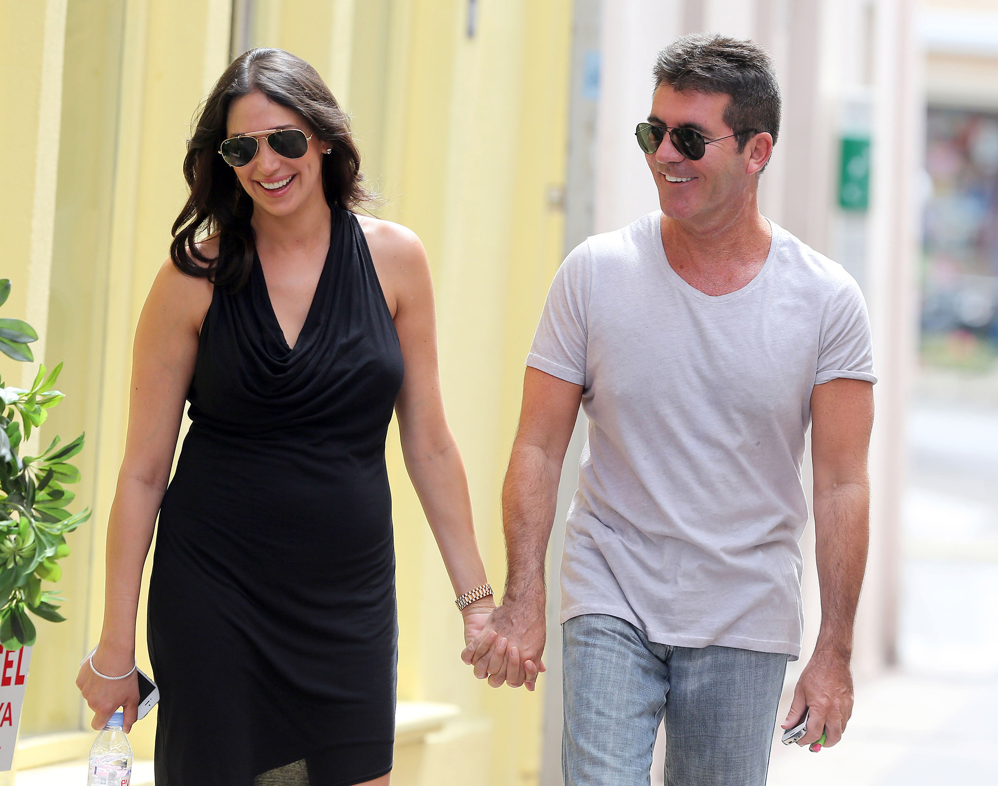 Lauren Silverman and Simon Cowell (FameFlynet)