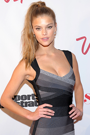 ...so her fellow Sports Illustrated Swimsuit Issue model Nina Agdal stepped in. (Getty Images)